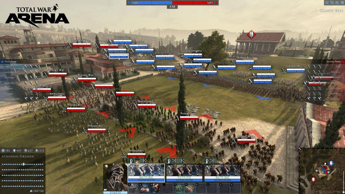 Закрытое бета-тестирование Total War: ARENA намечено на сентябрь 20930