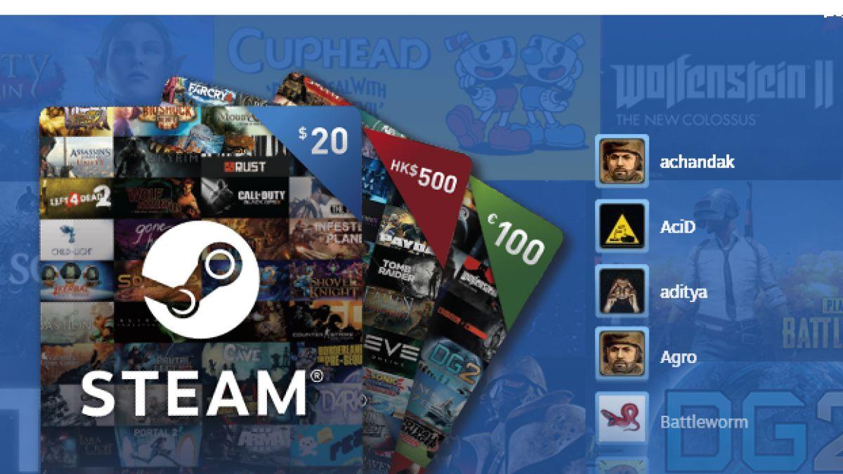 В Steam появились электронные подарочные карты 21807