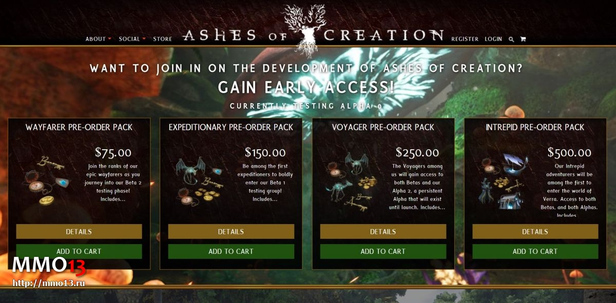Ashes of Creation — старт Alpha 0 и прием предзаказов 22350