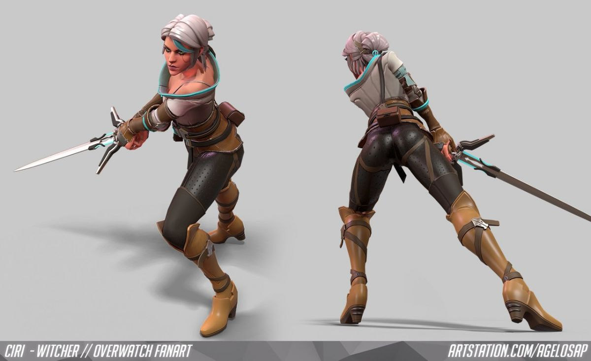 Как бы выглядела Цирилла из The Wither 3 в Overwatch 23875