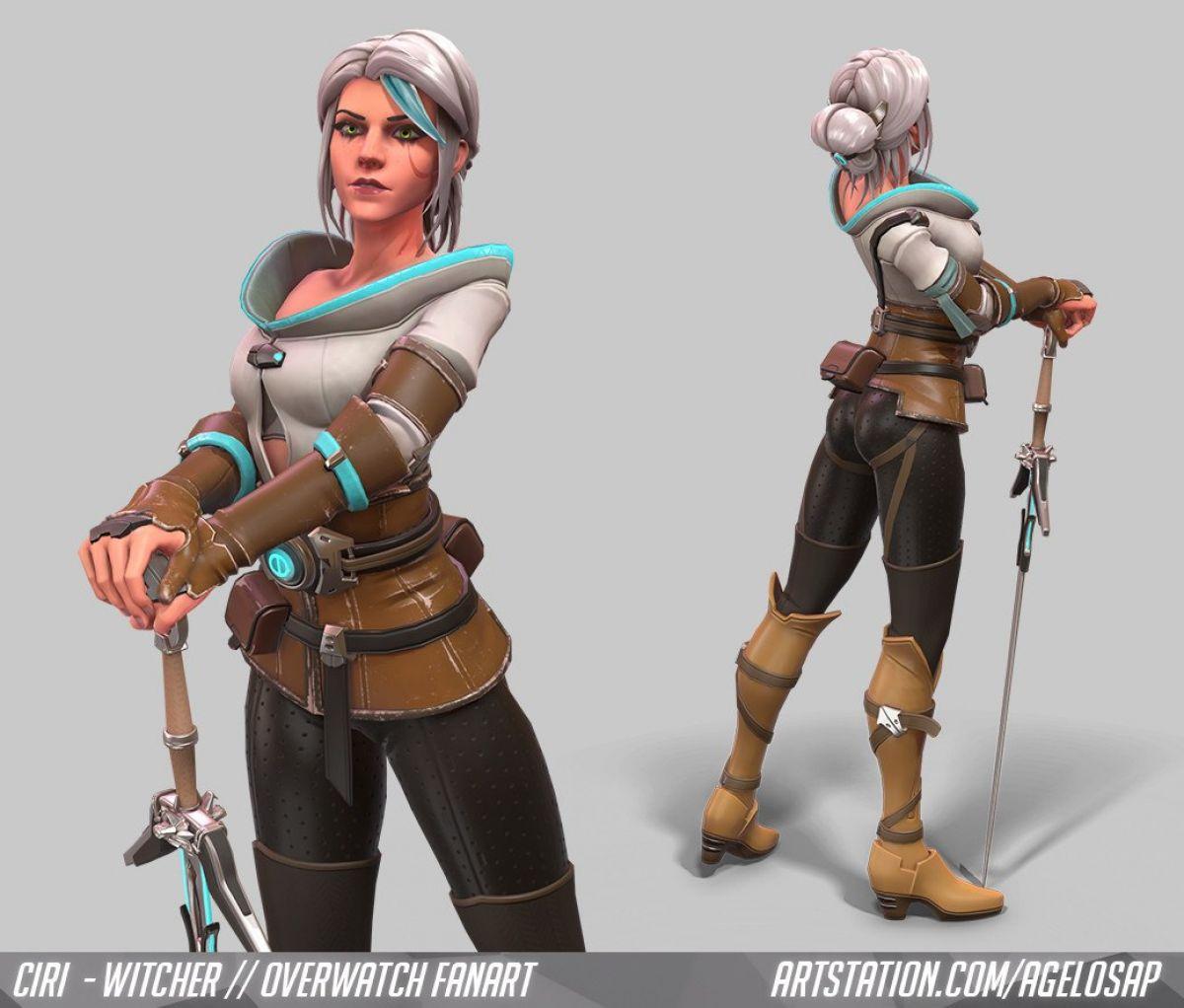 Как бы выглядела Цирилла из The Wither 3 в Overwatch 23876