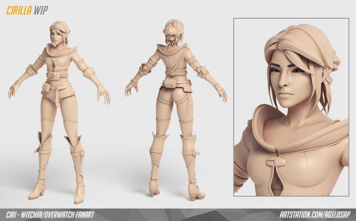 Как бы выглядела Цирилла из The Wither 3 в Overwatch 23877