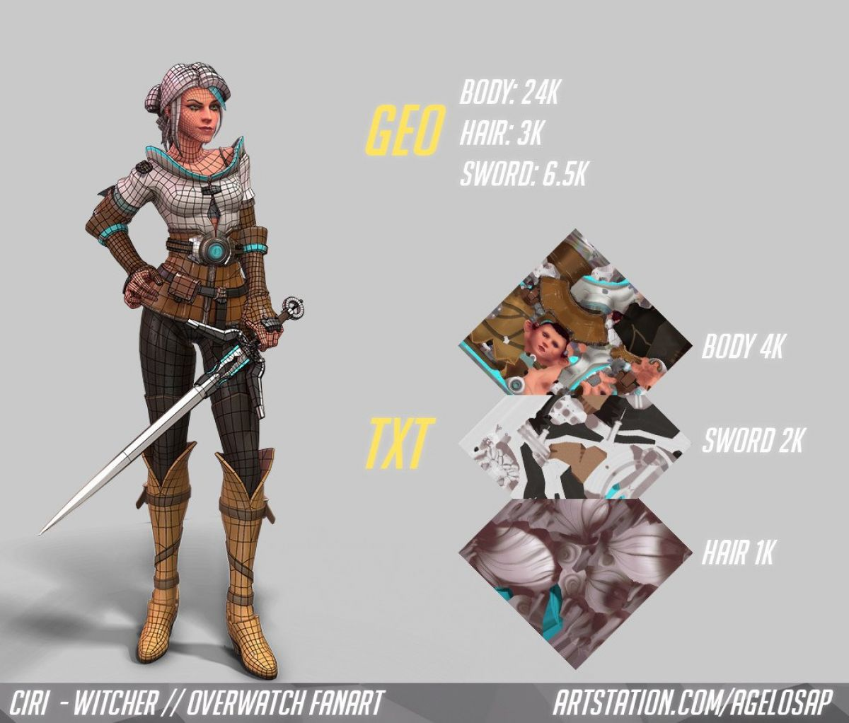 Как бы выглядела Цирилла из The Wither 3 в Overwatch 23878