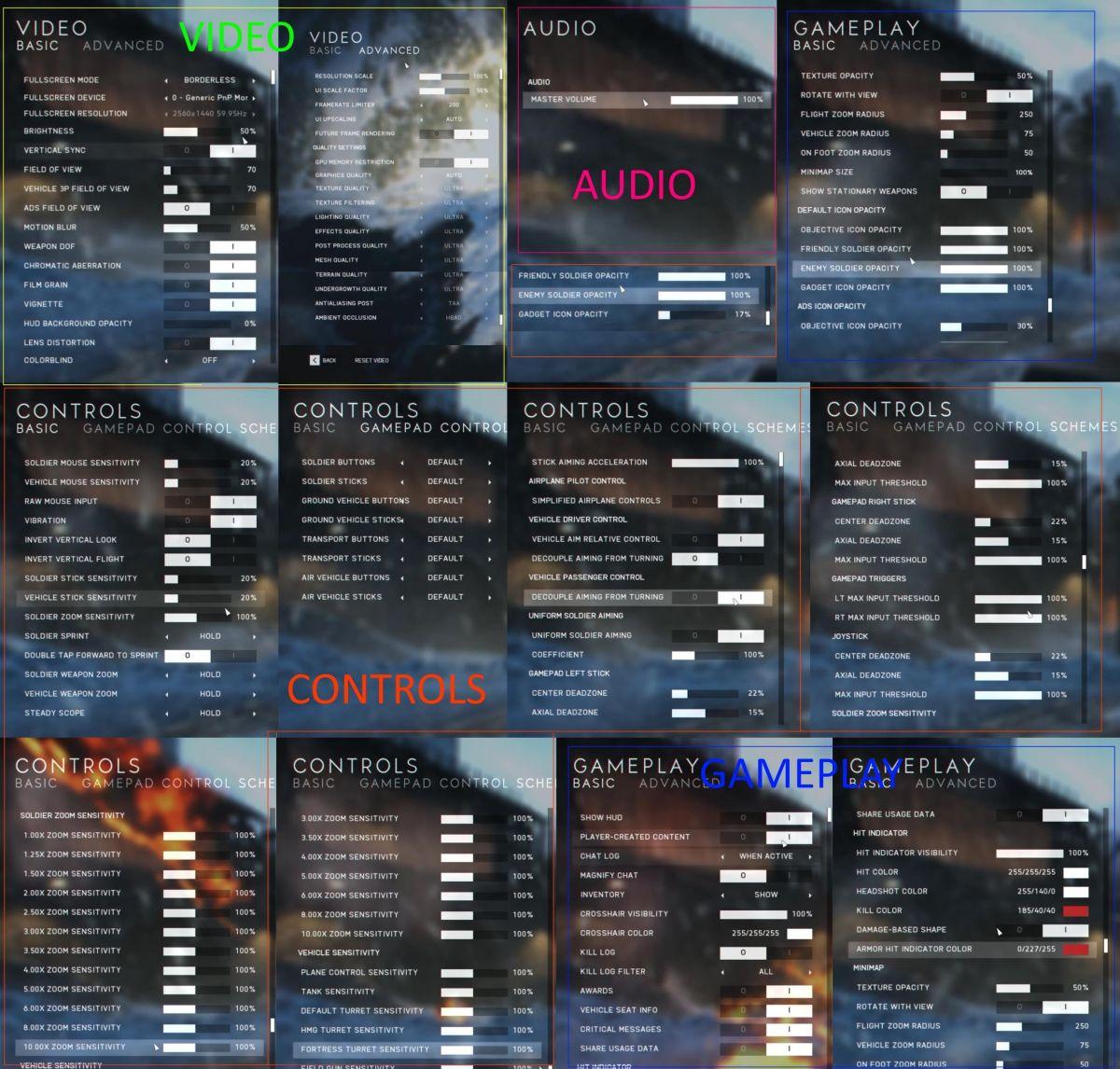 Опубликованы все настройки из Battlefield V 24445