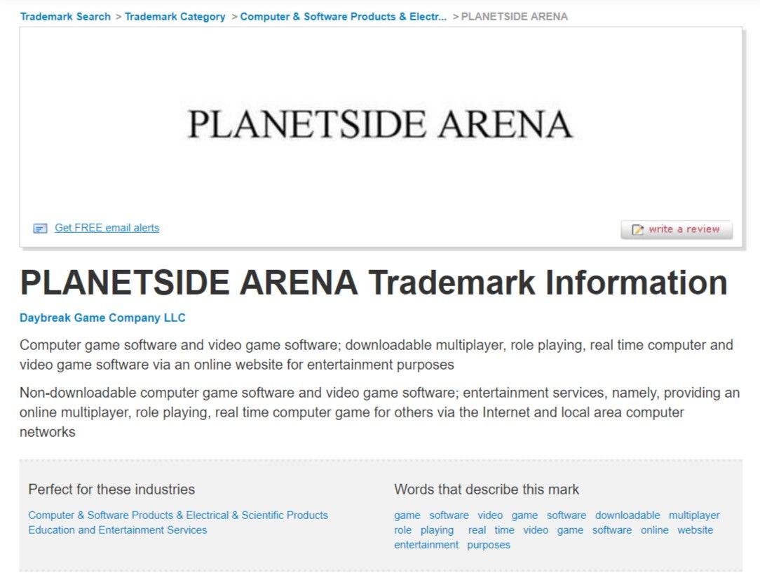 Daybreak зарегистрировала торговую марку PlanetSide Arena