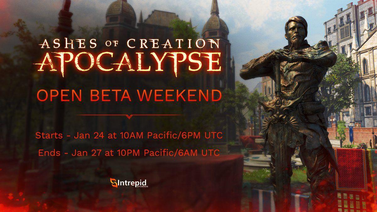Дата второго этапа бета-выходных Ashes of Creation Apocalypse