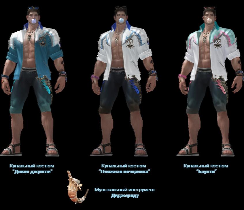 Все комплекты одежды из июльского обновления Lost Ark