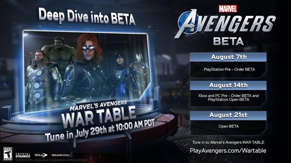 Бета-тестирование Marvel's Avengers начнется в августе