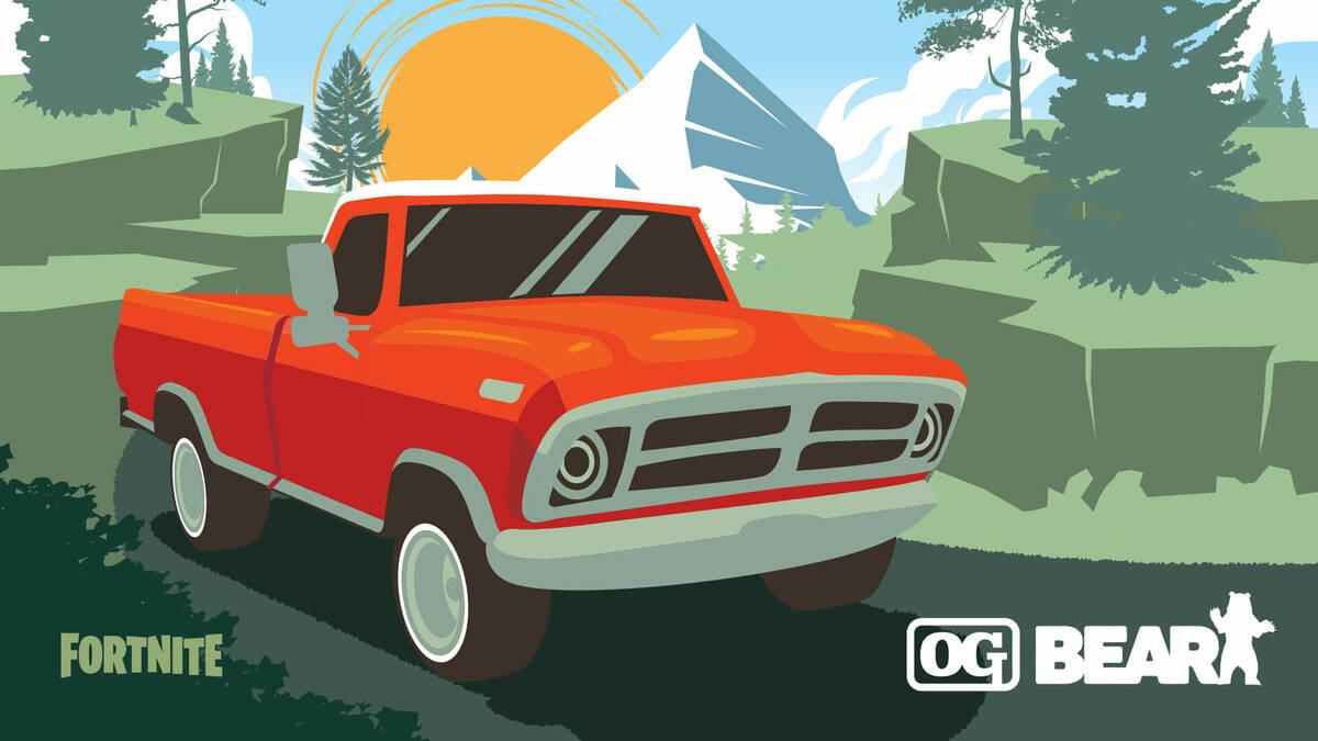 Обновление Весёлая поездка для Fortnite добавило в игру автомобили