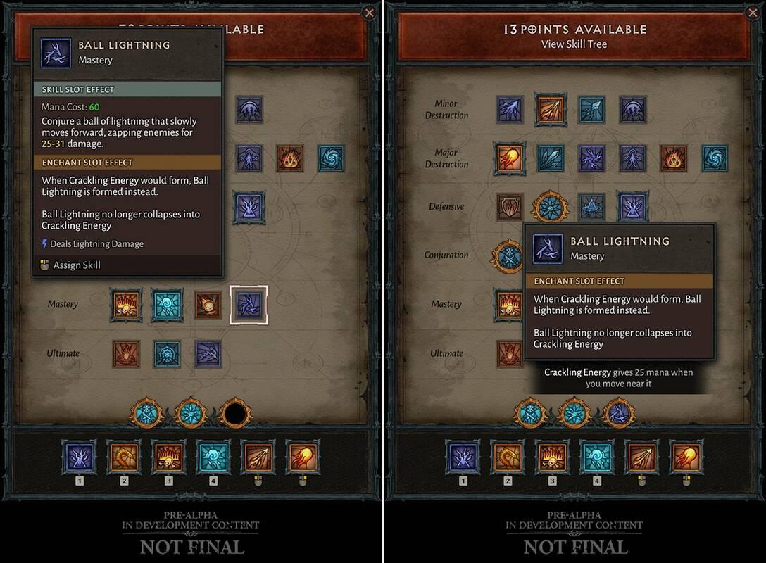 Dibalo IV Умения и таланты, чары Волшебницы, прогрессия на высоких уровнях