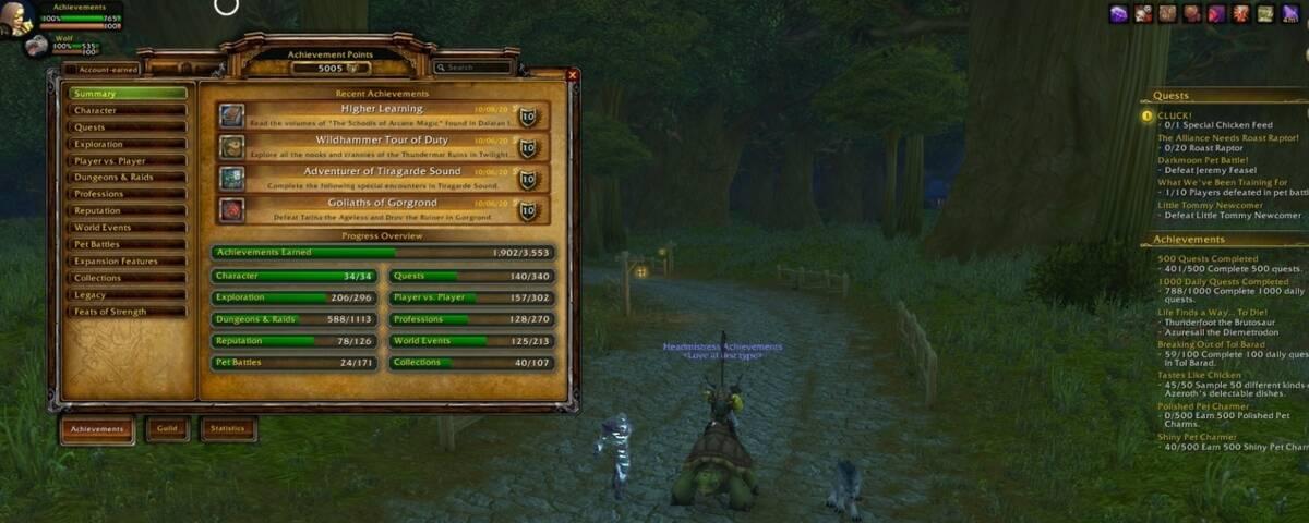 WoW: игрок смог заработать героем 1 уровня более 5000 очков достижений