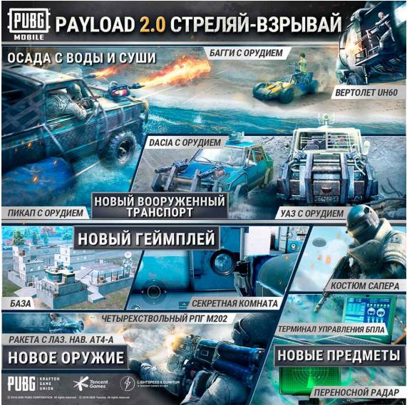 PUBG MOBILE получила бесплатное обновление режима Payload с новой техникой, оружием и другим