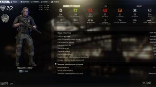 Скриншоты интерфейса Escape from Tarkov: графические опции, инвентарь, статистика и другое