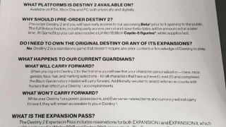 Скриншот или фото к игре Destiny 2 из публикации: В сеть утекли даты релиза первых DLC для Destiny 2