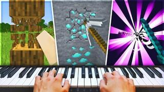 Игрок прошёл Minecraft, используя настоящее пианино