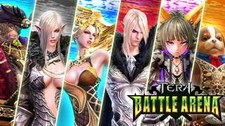 TERA Battle Arena  Способности персонажей Эллеон, Фрая, Кьебел, Золин, Пэйсен и Дикси