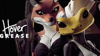 Геймплей изометрического шутера HoverGrease с человекоподобными животными в главной роли