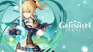 Демонстрация особенностей Джинн в Genshin Impact