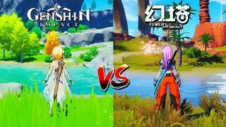 Tower of Fantasy оказалась очень похожа на Genshin Impact  Опубликовано видеосравнение