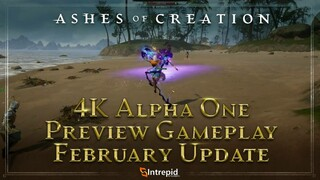 Геймплей с предстоящей альфы Ashes of Creation в 4K60FPS