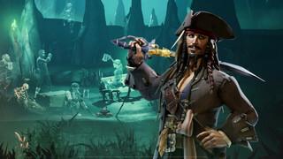 Кадры игрового процесса обновления Sea of Thieves с Джеком Воробьем