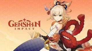 Ёимия из Genshin Impact таскает ящики и показывает свои Пиро-навыки