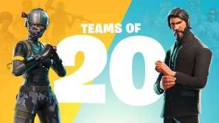 В Fortnite добавили режим «Команды по 20 игроков»